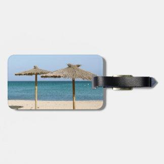 Thatch Beach Umbrellas Tag For Luggage