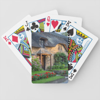 Thatch roof cottage in England Bicycle Playing Cards
