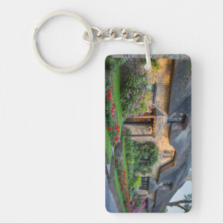 Thatch roof cottage in England Keychain