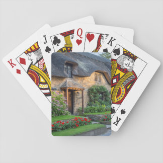 Thatch roof cottage in England Playing Cards