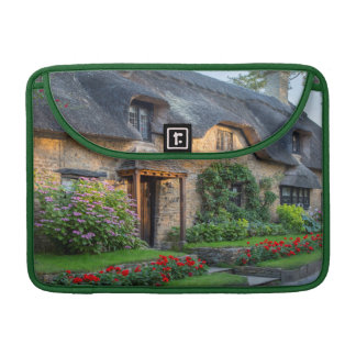 Thatch roof cottage in England Sleeve For MacBooks