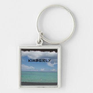 Thatched Cabana keychain