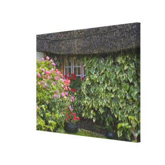 Thatched cottage, Adare, County Limerick, Canvas Print