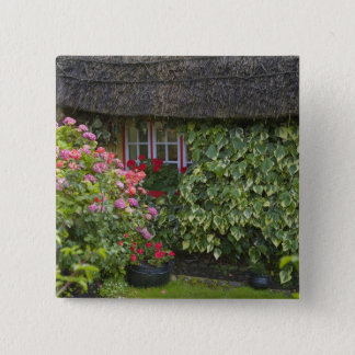 Thatched cottage, Adare, County Limerick, Pinback Button