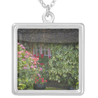 Thatched cottage, Adare, County Limerick, Silver Plated Necklace
