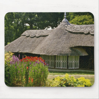 Thatched cottage, England  flowers Mouse Pad