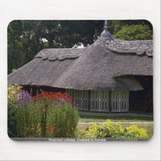 Thatched cottage, England in Europe Mousepads