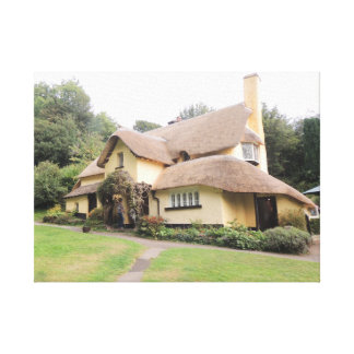 Thatched Cottage in Selworthy Canvas Print