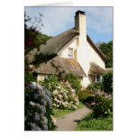 Thatched Cottage, Selworthy, Exmoor, Somerset, UK Greeting Cards