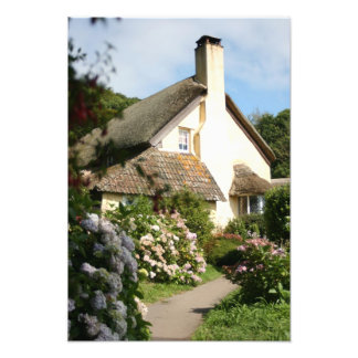 Thatched Cottage, Selworthy, Exmoor, Somerset, UK Photo Print