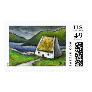 Thatched cottage stamps
