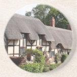 Thatched cottage, Stratford, England, UK Drink Coasters