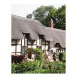 Thatched cottage, Stratford, England, UK Letterhead
