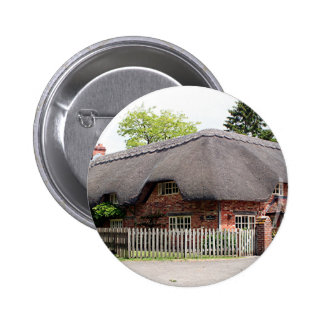 Thatched cottage United Kingdom 12 Pinback Buttons
