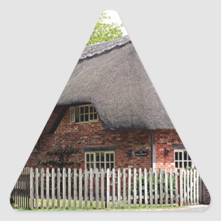 Thatched cottage, United Kingdom 12 Triangle Sticker