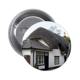Thatched cottage United Kingdom 3 Pinback Buttons