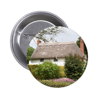 Thatched cottage United Kingdom 4 Pinback Button