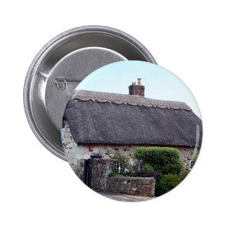 Thatched cottage United Kingdom 6 Buttons