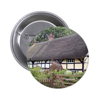 Thatched cottage United Kingdom 8 Pinback Buttons