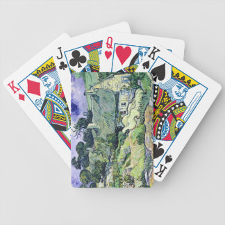 Thatched cottages at Cordeville, Bicycle Playing Cards