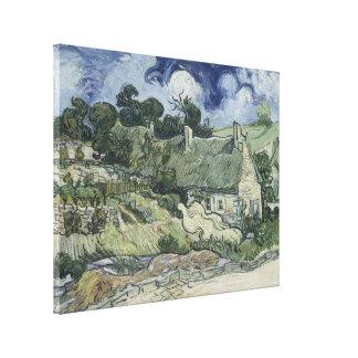 Thatched Cottages at Cordeville Vincent Van Gogh Canvas Print
