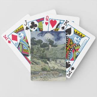 Thatched Cottages at Cordeville Vincent Van Gogh Bicycle Playing Cards