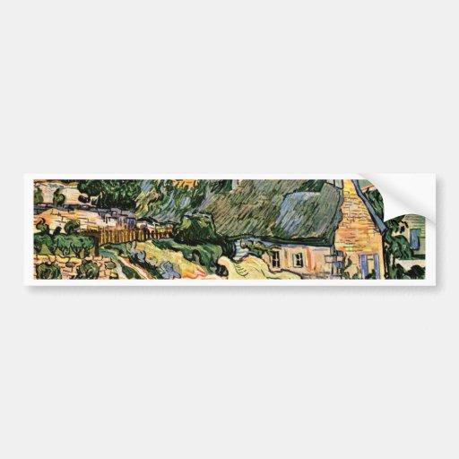 Thatched Cottages At Cordevilledeutsch: Car Bumper Sticker