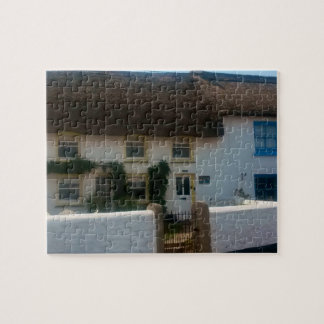 Thatched Cottages at Coverack Cornwall England Jigsaw Puzzle