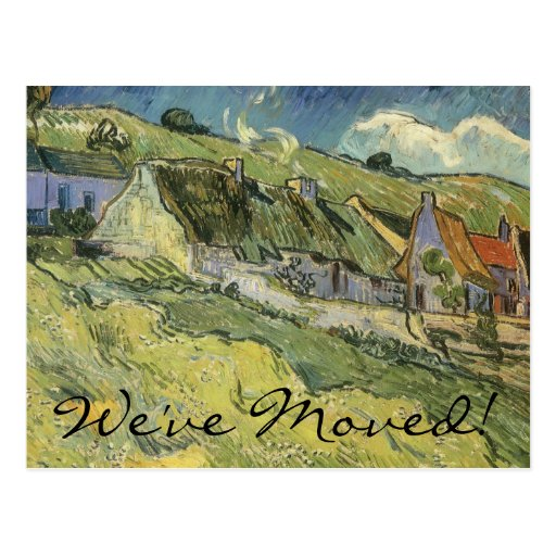 Thatched Cottages by van Gogh, Change of Address Post Cards