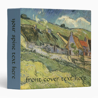 Thatched Cottages by Vincent van Gogh 3 Ring Binder