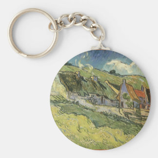 Thatched Cottages by Vincent van Gogh Key Chains