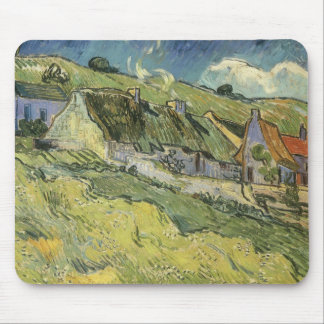 Thatched Cottages by Vincent van Gogh Mouse Pad