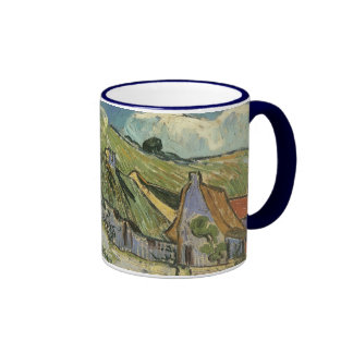 Thatched Cottages by Vincent van Gogh Mugs
