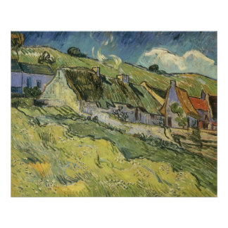Thatched Cottages by Vincent van Gogh Poster