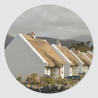 Thatched Cottages Classic Round Sticker