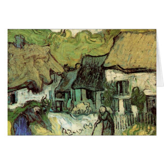 Thatched Cottages in Jorgus by Vincent van Gogh Card