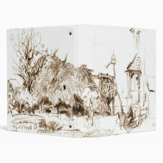 Thatched Hut 1835 3 Ring Binder