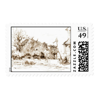 Thatched Hut 1835 Postage