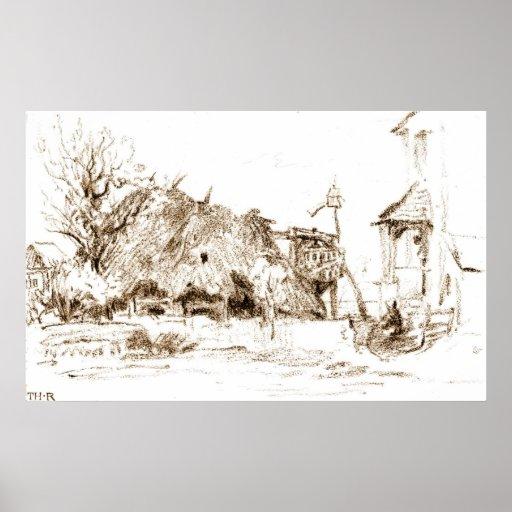 Thatched Hut 183 Print