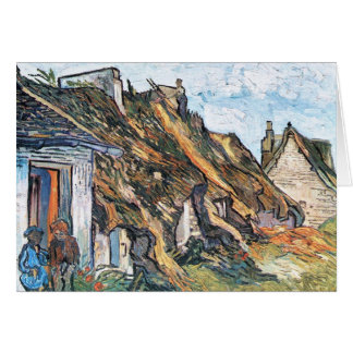 Thatched hut in Chaponval by Vincent van Gogh Card