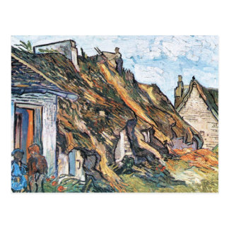 Thatched hut in Chaponval by Vincent van Gogh Postcard