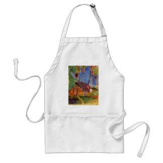 'Thatched Hut Under Palms' - Paul Gauguin Adult Apron