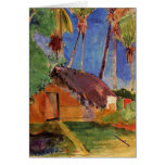 'Thatched Hut Under Palms' - Paul Gauguin Stationery Note Card