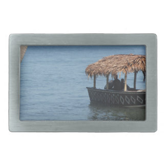 Thatched Roof Boat Belt Buckle