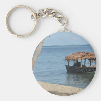 Thatched Roof Boat Key Chains