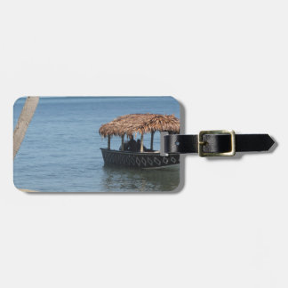 Thatched Roof Boat Travel Bag Tags