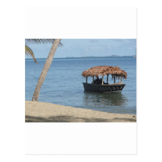 Thatched Roof Boat Postcard