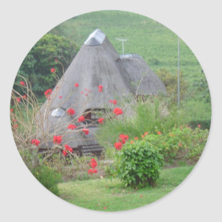 Thatched Roof Classic Round Sticker