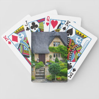 Thatched roof cottage bicycle playing cards