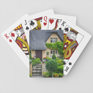 Thatched roof cottage playing cards
